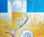L'attraversata_acrilico su tavola cm.20 x 30