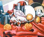 Composizione con arance_olio su tela sabbiata di cm. 50 x 70