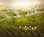 60x80 cm  Tea gardens