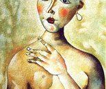 Omaggio a Gentilini_acrilico su tavola sabbiato cm. 70 x 50