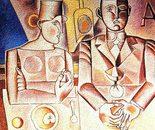 Omaggio a Gentilini_acrilico su tavola sabbiato cm. 60 x 60