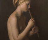 Girl with a flute. 2012
