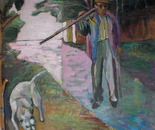 Il Boscaiolo con cane