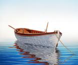 Boat on a Serene Sea