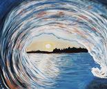 Sunset Tubular Wave