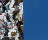 Freshly washed mountatins - Oil on Canvas 48x96 (122x244cm)