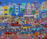 Miami Art Deco, Oil on Canvas