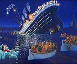 Titanic Disaster, Oil on Canvas