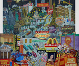 Fabulous Las Vegas, Oil on Glass 3D