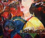 "Mémoire de femme (Memories of a woman) 30""x40"" Acrylic on Canvas"