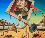 Surreal simulacrum of Salvador Dali