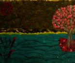 A sakura tree in the night of the fireflies (2)