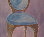 A Chair - pink and gold/bronze