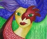 Harlequin Parrot - red