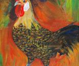 Hen on Fire