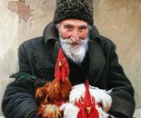 The old man selling roosters. DUM SPIRO, SPERO.