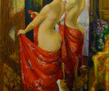 Red Evening Silk