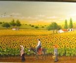 40x80 cm Sunflowers