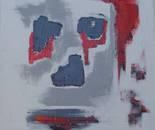 Rouge et gris 89cmX116cm