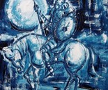 Dom Quixote - 2005 - Acrilic on Eucatex - 74x64 cm-