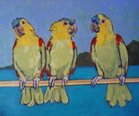 THREE PARROTS (PAPAGAIOS)