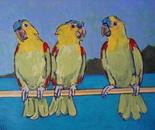 THREE PARROTS (PAPAGAIOS)