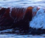 """Wave4,17"""" x 66"""", acrylic on panel, 2010"""