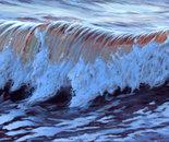 """Wave7, 14"""" x 54"""", acrylic on panel, 2011"""