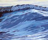 """Wave11, 13"""" x 49', acrylic on panel, 2011"""