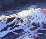 """Wave12, 14"""" x 60"""", acrylic on panel, 2012"""