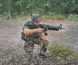 steven on firing range