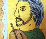 The artist on yellow