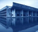The Assembly Building in Chandigarh, India