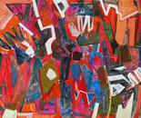 "L'APRES-MIDI D'UN FAUNE Acrylics on canvas 150x200cm/58x78"" 2011"