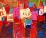 """PARCELLES ET LINEAMENTS Acrylics on canvas 150x200cm/58x78"""" 2011"""