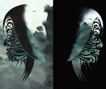 Glyphins Diptych: Jade #1