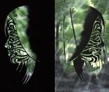Glyphins Diptych: Jade #2