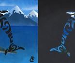 Glyphins Diptych: Maori Dolphin