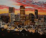 Scarlet Sunset over Denver