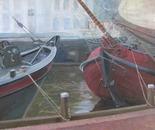 Ships in Museum haven in Leeuwarden