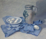Old jar and eggs