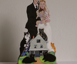 Cake Topper Rachel and Doug