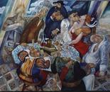 Seven sins . oil,canvas ,120 cm for 150 cm