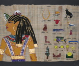 pharaonic art on papyri - not from a model eccept the hieroglyphs
