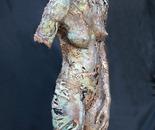 Andromida - free pour sand cast bronze figure
