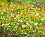 Bauerngarten, 2008, acrylic on canvas, 100 x 100 cm