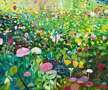Blumenpracht vom Bauernhof, 2008, acrylic on canvas, 100 x 100 cm