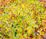Wildrosenbusch, 2008, mixed media on canvas, 100 x 100 cm