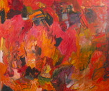 "Inner Fire _ 60""X70"" oil/canvas"