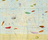 Leichtigkeit des Seins, 2009, mixed media on canvas, 100 x 100 cm